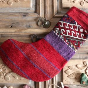 クリスマスの長靴下とラッピング