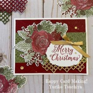 ゴージャスなクリスマスカードにメロメロです~♪