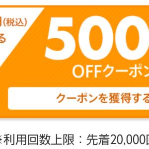 500円オフクーポン見つけた♡