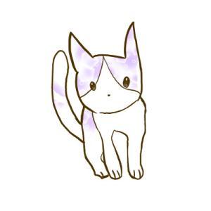 柄ネコ【イラスト】