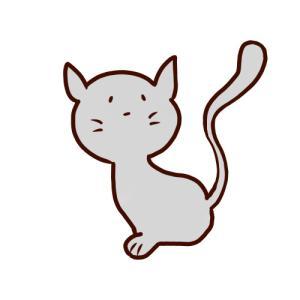 シンボルチックなネコ【イラスト】