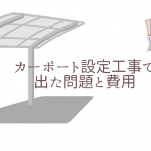 TOEXメジャーカーポート(ワイド2台用)設置工事で出た問題と費用