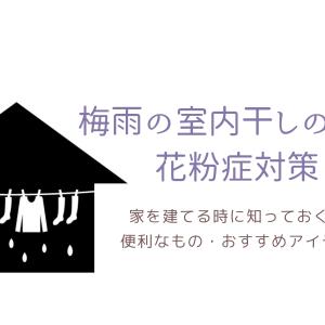 梅雨の室内干しと臭い・花粉症対策|家を建てる時に知っておくと便利なものとおすすめアイテム