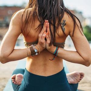 朝一番は瞑想♩