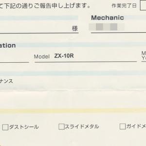 ZX-10R リアサスをオーバーホール済の純正品に交換