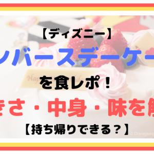 【ディズニー】アンバースデーケーキを食レポ!大きさ・中身・味を解説【持ち帰りできる?】