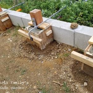 木製フェンスをDIY! 基礎づくり