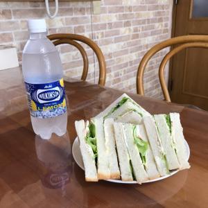今朝のサンドイッチ♪