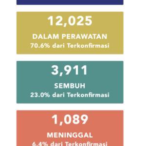 5月16日(土)の集計 インドネシア政府発表より