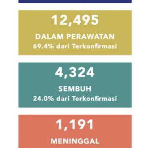 5月18日(月)の集計 インドネシア政府発表より