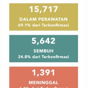 5月25日(月)の集計 インドネシア政府発表より