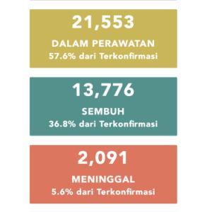 6月13日(土)の集計 インドネシア政府発表より