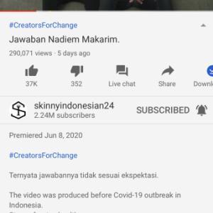 動画リンク 〜Jawaban Nadiem Makarim ネットいじめとインドネシアの教育