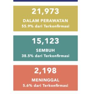 6月15日(月)の集計 インドネシア政府発表より