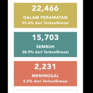 6月16日(火)の集計 インドネシア政府発表より