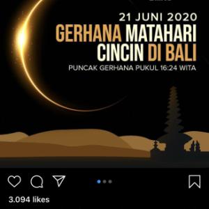 記事リンク〜6月21日(日) バリ島では金環日食が観測できます
