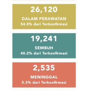 6月23日(火)の集計 インドネシア政府発表より
