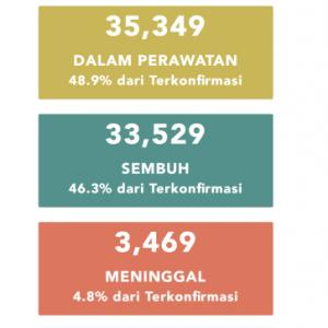 7月10日(金)の集計 インドネシア政府発表より