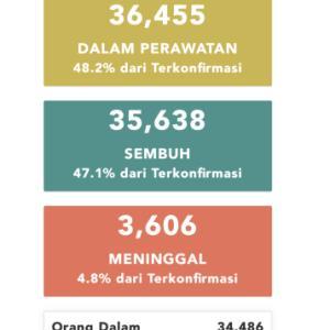 7月12日(日)の集計 インドネシア政府発表より