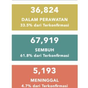 8月1日(土)の集計 インドネシア政府発表より