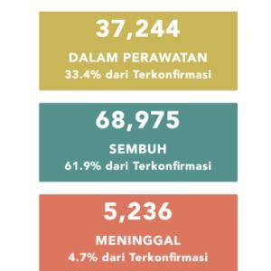8月2日(日)の集計 インドネシア政府発表より