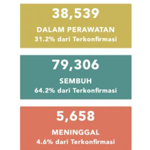 8月8日(土)の集計 インドネシア政府発表より