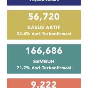 9月17日(木)の集計 インドネシア政府発表より