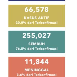 10月11日(日)の集計 インドネシア政府発表より