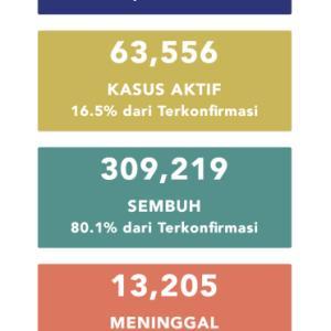 10月24日(土)の集計 インドネシア政府発表より