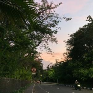 散歩 夕空