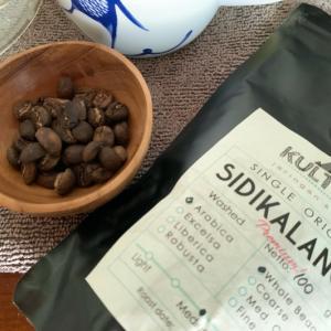 北スマトラのシディカラン産のコーヒー豆を試してみました。