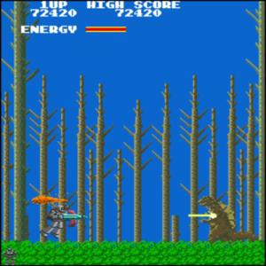 【バスター】ロボット型の自機を操りシールドで敵レーザーを防御、セサミジャパンのシューティングゲーム