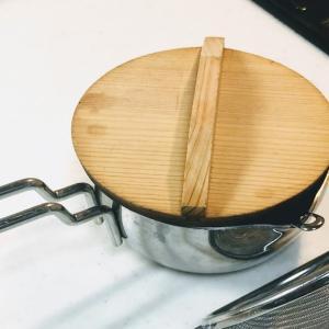 私のオイルポットは、小鍋とストレーナー。