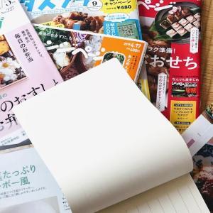 雑誌のレシピを切り取って、無印良品のファイルに必要なところだけ。