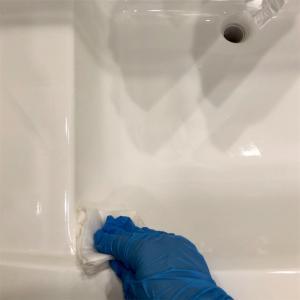 洗面台をピカピカにしてみた!(続々コーティング)