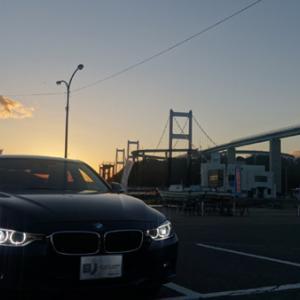 来島海峡大橋のライトアップ 亀老山(きろうさん)展望台