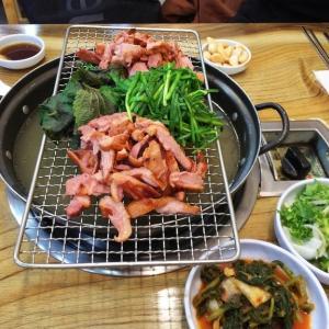 韓国 ソウル オリコギ(アヒル肉)のしゃぶしゃぶ