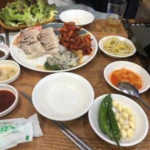 韓国 ソウル 鍾路3街お持ち帰りもOKのクルポッサムのお店サメチッ