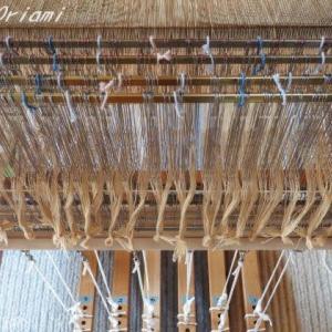 手織り手紡ぎ工房より・桃山織り