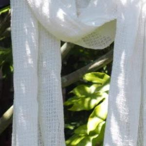 「暮らすように織りを楽しむ・ハックレース」で夏の巻き物・その2