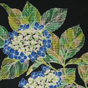 手描き友禅 夏帯「額紫陽花」腰原きもの工房ネットショップに出品いたしました♪