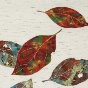 手描き友禅 染名古屋帯「柿の葉」のご紹介です♪