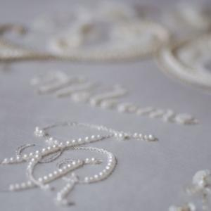weddingの刺繍