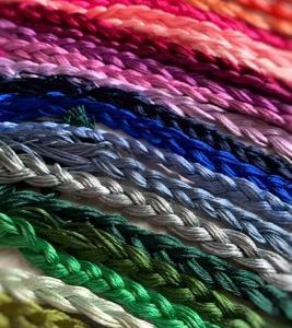色々な刺繍糸を試して