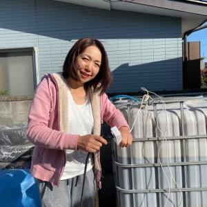 須賀川から長谷部 久美子 さんが被災者に届けるためにEM菌を取りに来てくれました。