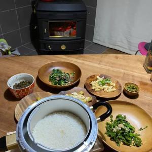 今日のご飯…山の幸だったり、友人からのいただき物だったりと ありがたい一食なのでした。