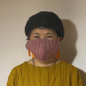 「福縁の宿」待望の「会津木綿」のマスク入荷しました!