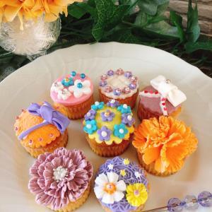 【レッスンレポ】マシュマロフォンダントカップケーキ