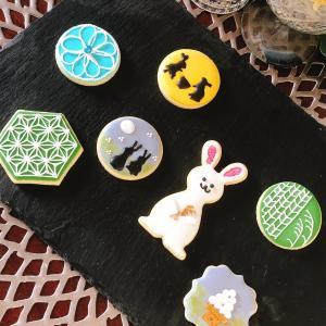 【レッスンレポ】和柄にも挑戦!十五夜アイシングクッキー