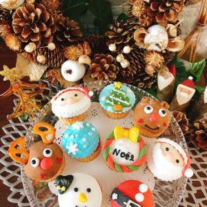 【レッスンレポ】クリスマスデコカップケーキ